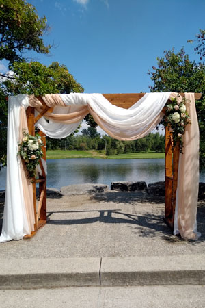 Weddings: Draped Arch